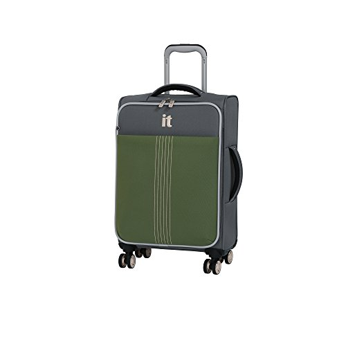 "it luggage 21.5"" Filament 8 Wheel Lightweight Expandable Carry-on, Steel Gray/Loden Green, One Size"