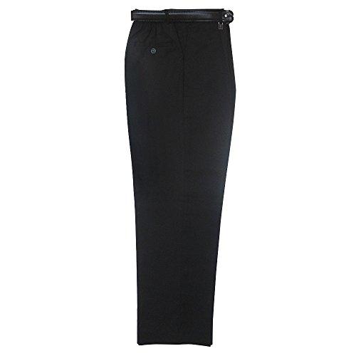 Besonders robuste Schulhose, halb elastisch, Art. Nr. 7040 - Schwarz, XXL (91-96 Taille in cm)
