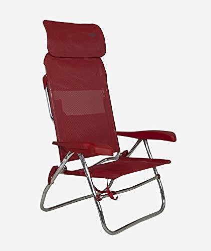 Crespo - Silla de Playa AL-223 Compact - Rojo