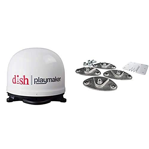 Winegard PL-7000 Dish Playmaker Portable Satellite Antenna with Roof Mount Kit