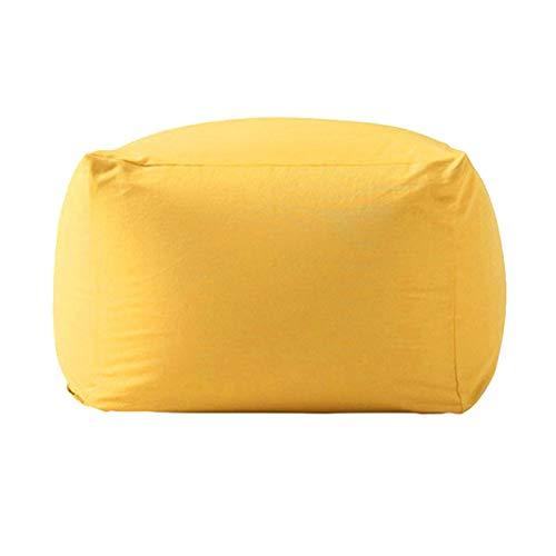 Yingm Cómodo Sofá Puf Bolso de Frijoles para Adultos y niños Silla de Almacenamiento Bolsa de Frijoles Adultos Saco de la Tumbona Regalo (Color : Big Red, Size : One Size)