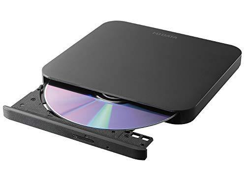 I-O DATA ポータブルDVDドライブ 軽量 USB2.0(USB3.0のPCでも利用可) バスパワー Win/Mac 国内メーカー EX-DVD05LK ブラック