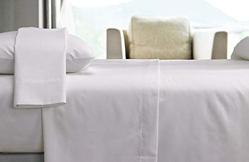 Courtyard by Marriott Hotel Signature Sheet Set - Breathable 300 Thread Count Cotton Blend Linens Set Exclusively for Courtyard - White - Includes Flat Sheet, Fitted Sheet, and 2 Pillowcases - King