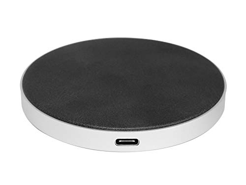 Networx Wireless Charger 3.0, Qi-Ladepad, Lederbezug, schwarz