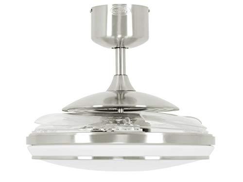 Fanaway EVO1 - Ventilatore da soffitto a LED dimmerabile, cromato spazzolato