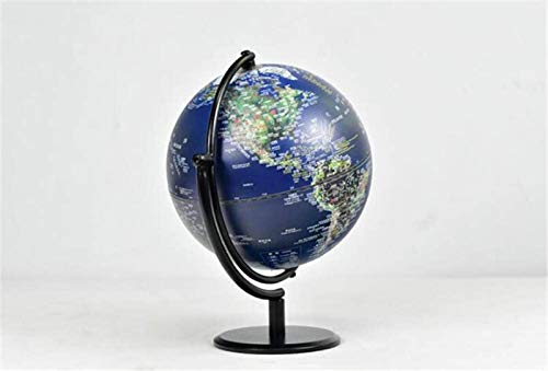 KJHG - Mundo iluminado por globo para niños, mundo de pie sobre una mesa 3D, luces LED integradas para vistas nocturnas, mapa del mundo destallado eDucativo 2 en 1