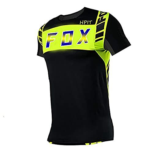 Fahrradtrikot für Frauen Langarm,Rennradbekleidung für Männer,Fahrrad Trikot Langarm Radfahren Enduro MTB Shirt Downhill T-Shirt Motocross Mx Mountainbike Kleidung Fox MTB S