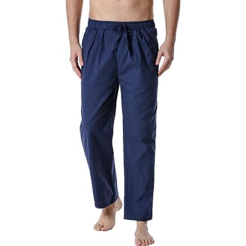 Pantalones Casuales para Hombre Pantalones Casuales de Cintura elstica con cordn Recto Suelto de Verano Pantalones Deportivos de Yoga para el hogar XL