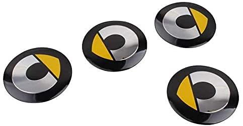 4 Piezas 56.5mm Coche Tapacubos para Smart Fortwo 450 451 453 Forfour, con Emblema De Insignia Embellecedor Central De Llanta De Rueda Cubre Car-Styling Accesorios