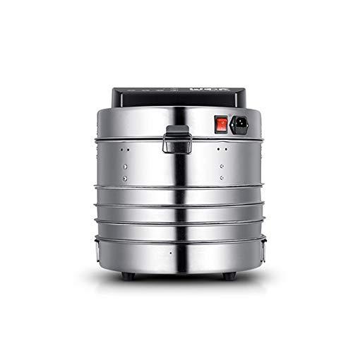 ZNBJJWCP Deshidratador inteligente de alimentos de acero inoxidable de 5 capas, procesador de alimentos para bebés y mascotas, secador de vapor, cocina, hornear, vegetales, frutas, horno, 30 cm de diá