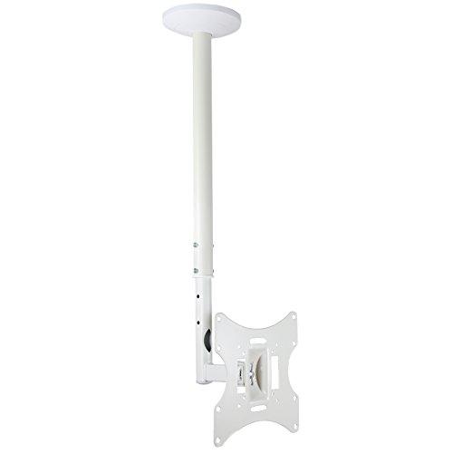 Staffa supporto TV girevole da soffitto per la maggior parte dei 23/26/32/40/42' LCD-504AW, bianco