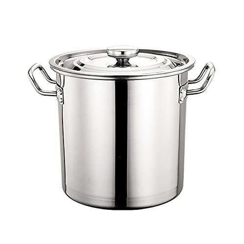 Pottilla de Acero Inoxidable, Stockpots, Olla de Gran Capacidad, Sopa de estofado Cacerola de ebullición con Tapa (Size : 35 * 35cm)