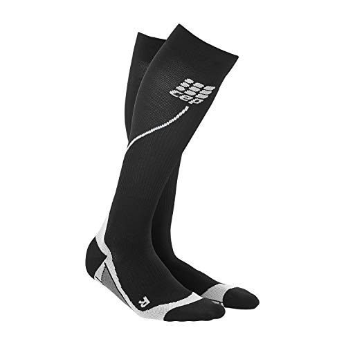 CEP Damen Strumpf Progressive+ Run Socks 2.0, Black/Grey, Gr.II