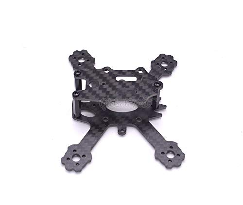 YIJIABINGRU ELF X2 88mm 88 Micro Carbon Fiber Frame Kit with 1935 Propeller for Mini RC Indoor FPV Racing Drone Quadcopter 1103/1104 Motor Drone Parts