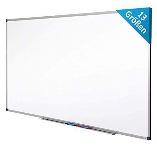 MOB Whiteboard - Sieger Preis-Leistung (Note 1,4) - 13 Größen - magnetisch und beschreibbar - Magnettafel Magnetwand - mit Aluminium-Rahmen, Stiftablage - für Hoch- und Querformat - 30 x 45 cm