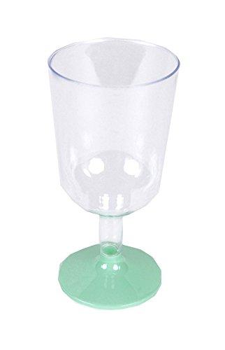 Plástico Copas de vino Party 180ml, plástico, turquesa, 8 unidades