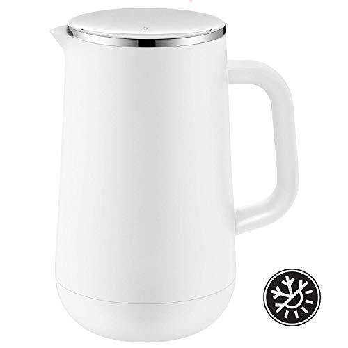 WMF Isolierkanne Thermoskanne Impulse, 1,0 l, für Tee oder Kaffee Drehverschluss hält Getränke hält Getränke 24h kalt und warm, weiß