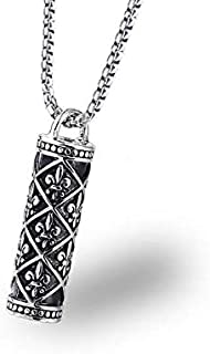 Pattern cylindrical fashion necklace men's necklace