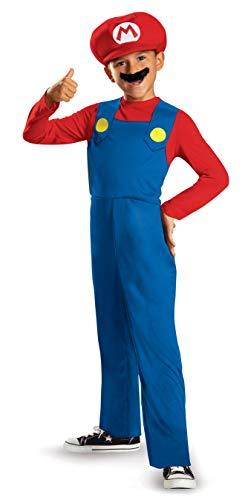 Mario and Luigi Classic Child Costume Mario - Small
