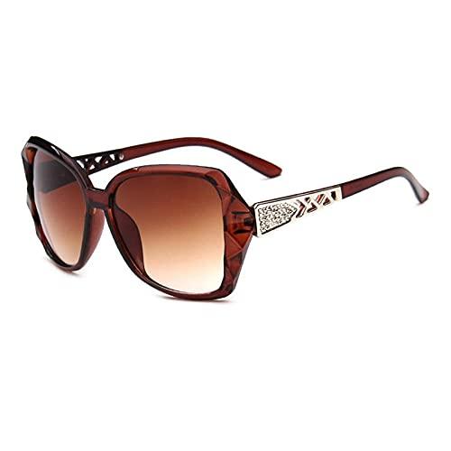 WQZYY&ASDCD Sonnenbrille Herren Damen Mode Sonnenbrillen Frauen Brillen Klassische Vintage Sonnenbrillen Weibliche Brillen Damen Uv400-Kaffee
