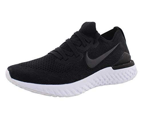 Nike Womens Epic React Flyknit 2 Womens Bq8927-002 Size 9.5 Black/Black-White