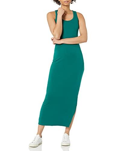 Daily Ritual Women's Supersoft Terry Standard-Fit Racerback Maxi Dress, Dark Emerald Green, X-Large