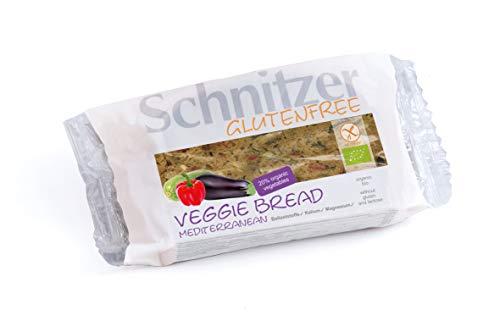 Schnitzer GLUTENFREE Schnitzer Schnittbrot Veggie Bread Mediterranean mit Gemüse glutenfrei, 6er Pack (6 x 125 g)