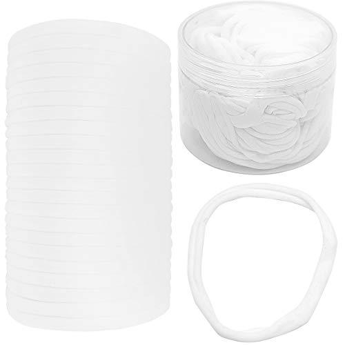 60Pcs Multi-function White Super Soft High Stretchy Baby Newborn Infants Headbands,DIY Crafts Elastics,Ear Bands Loops Ties Ropes