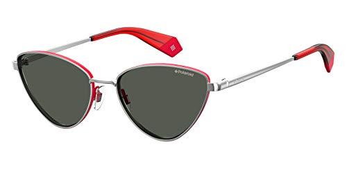Polaroid Eyewear PLD 6071/S/X, Occhiali da Sole Donna, Silverred, 56