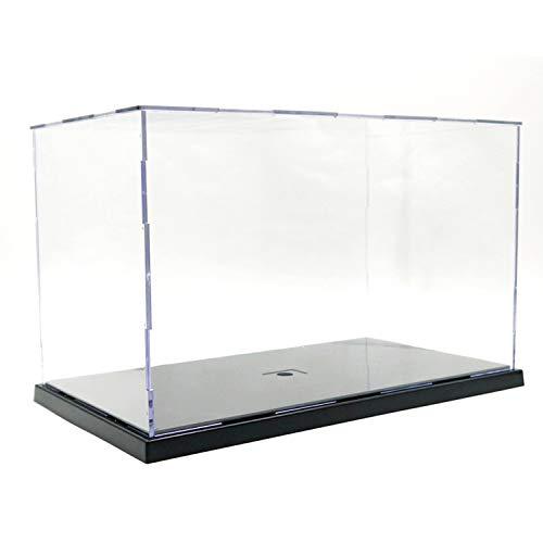 Elepure - Caja de cristal acrílico transparente para colección Lego Figuras de maqueta, gran expositor, caja de exhibición antipolvo con base para juguetes Mini figuras (31 x 17 x 19 cm)
