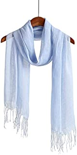 WS Natural Scarf/Shawl/Wrap Linen Feel Scarves For Men And Women
