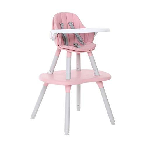 ZOUSHUAIDEDIAN Silla alta, sillas de refuerzo de sillas altas para niños pequeños, mesa para bebés convertibles y silla, bandeja de alimentación ajustable, engranajes altos y bajos ajustados,