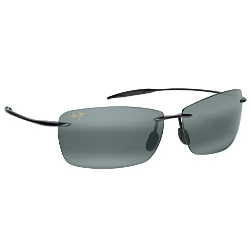 Maui Jim Sunglasses - Lighthouse / Frame: Gloss Black Lens: Polarized Neutral Gray, Gloss Black/Neutral Grey, 65