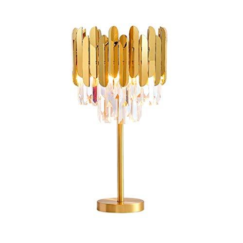 HTL Sala de Estar Decorativa Lámpara de Mesa de Cristal de Cristal Flinge Cristal Lámpara de Mesa Dormitorio Noche Luz de Escritorio Lámparas de Escritorio para Dormitorio