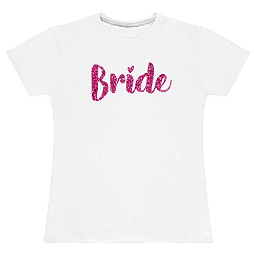 FunkyShirt Pink Glitter Bride Squad T Shirt Matching Bride to BE TOP Novelty Hen DO Party Bags Hen Night Outfit Women Shirts Tops