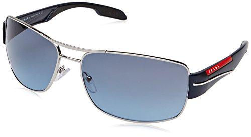 Prada Sport Herren Mod. 53Ns Sole Rechteckig Sonnenbrille, 1BC5I1