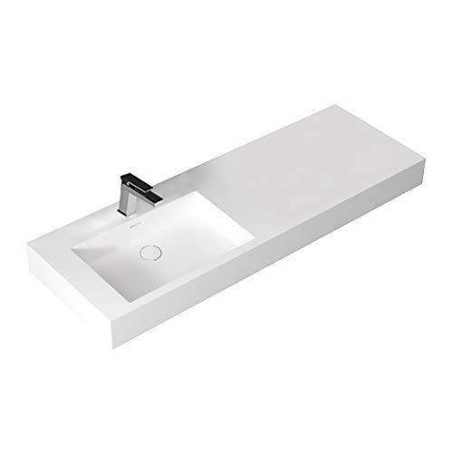 STONEART Waschbecken LP4514L weiß/140x48cm/matt