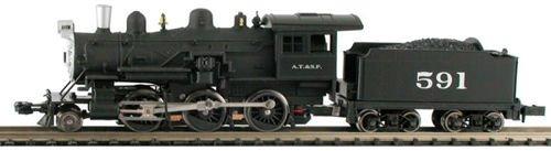Steam 2-6-0 Mogul - Standard DC -- Atchison, Topeka & Santa Fe -  Model Power, 87611
