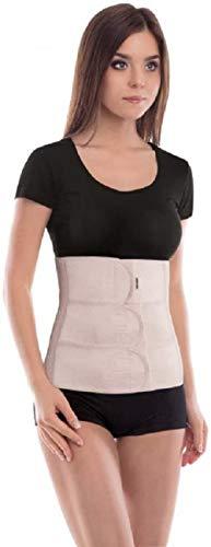 Cinturón abdominal de sujeción; Sujeción de espalda; Banda de sujeción abdominal; Cinturón de soporte postoperatorio; 31cm de altura Small Beige