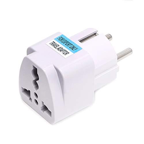 KLOVA Universal UK US AU to EU AC Power Socket Plug Cargador de Viaje Adaptador Convertidor