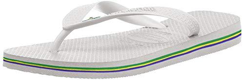 Havaianas Unisex-Erwachsene Brasil Zehentrenner, Weiß (White), 39/40 EU( 37/38 BR)