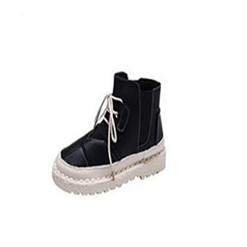 SJDYJ Damen Schneeschuhe Damen Winter warme plüsch Stiefeletten Outdoor Sports Walking wandern Martin Stiefel weiblich 2019 britische Wind Baumwolle Schuhe Studenten sowie samt warme Stiefel39