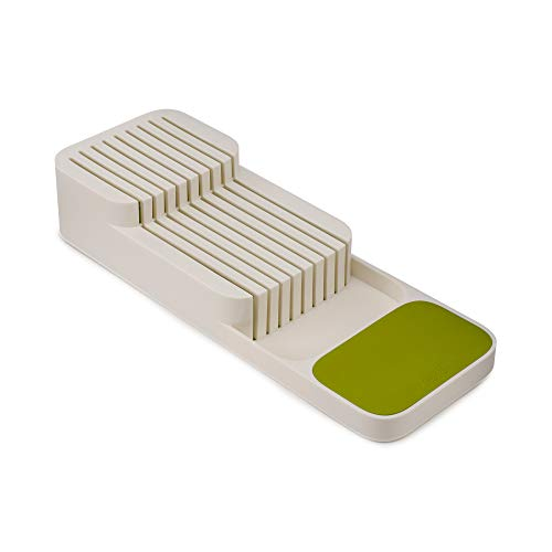 Joseph Joseph Drawer Store - Zweistufiger, horizontaler Messerblock - weiß/grün