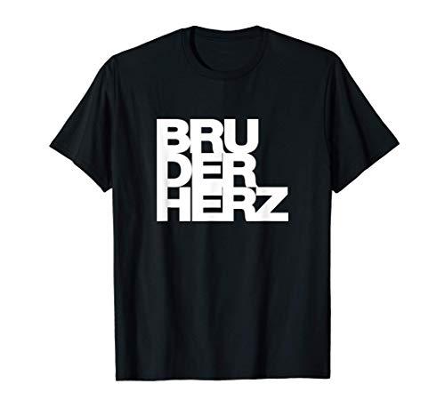 Bestes Geschenk für deinen Bruder. BRUDERHERZ T-Shirt
