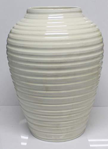 Pagano home portaombrelli porta ombrelli in ceramica decorato a mano Made in Italy altezza 50 cm. mod aurea anticato bianco