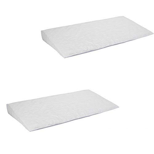 Perfect Sleeper Deluxe Crib Wedge, 2-Pack   Helps Baby with Acid Reflux and Congestion   Waterproof Cover