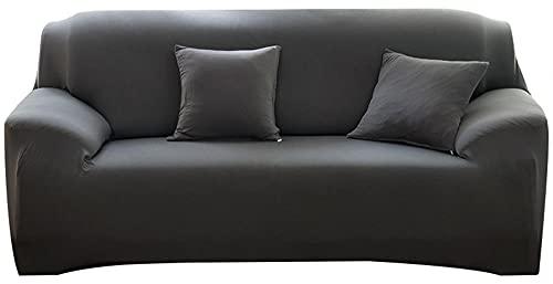 Funda Protectora para Muebles,Funda de sofá, Funda de sofá elástica Adecuada para sofá en Forma de L, sofá Combinado, sofá de Cuero-Gris_195-230cm