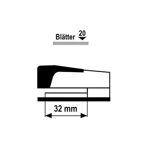D.RECT 0317 20 Blatt | Heftzange Metallkonstruktion Metall (Typ 24/6, und 26/6 Heftklammern) 110572