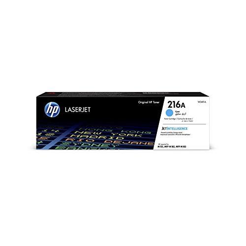 HP 216A W2411A Cartuccia Toner Originale, Capacità Standard da 850 Pagine, Compatibile con Stampanti Color LaserJet Pro MFP M183fw, Ciano