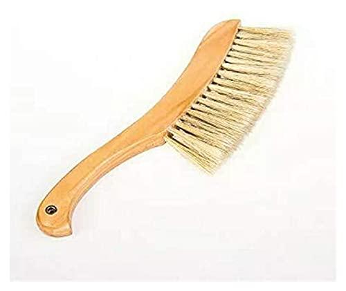 JJZXPJ Limpiador Cepillo Cepillo Suave 31,5 cm Natural sólido Cepillo de Madera Cepillo Cepillo Cepillo Escoba cerdas Melena Polvo sofá Cama Sweep Sweep cepillos
